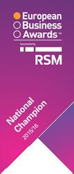 European Business Awards - National Champion Certificate 2015